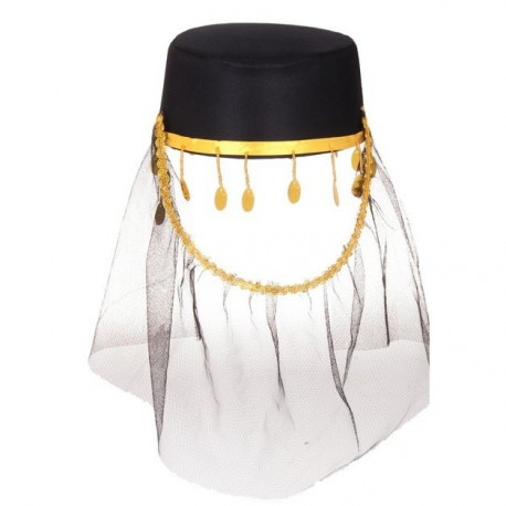 """Карнавальная шляпа """"Шахерезада"""" черная 1020618"""