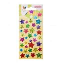 Наклейка дек мерцающая Звезды блестящие 1 70*160