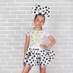 """Карнавальный набор """"Милашка"""" 2 предмета: юбка, ободок, цвет белый 1470332"""