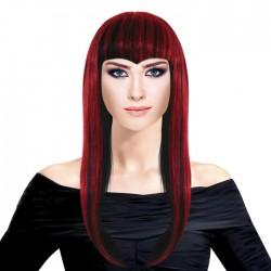 Парик Длинные волосы Микс Черно-красный