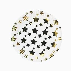 Набор тарелок Звезды Золотые 18см 6шт