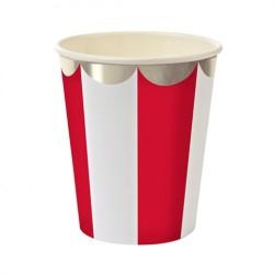 Набор стаканов Полоски красные 6шт