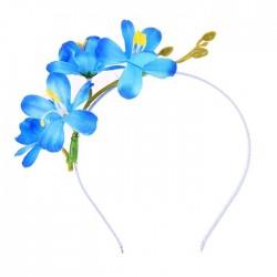 Гавайский ободок Лазурный цветок 15х18см