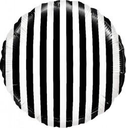 Шар Полосы черные 48см