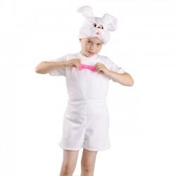 Карнавальный костюм Зайчик белый р28