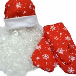 Набор Деда Мороза шапка,варежки,борода взр. К 6195