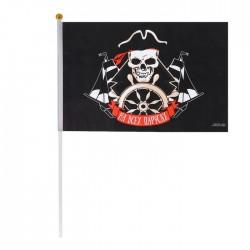 "Флаг пирата ""На всех парусах"" 30х45 см+ флагшток 3739950"