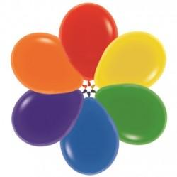 Шары Кристал 5 разноцветные 30см 100шт