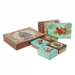 Коробка Рождественское ассорти №3 18х12х6см