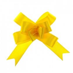 Бант-бабочка жёлтый 2см