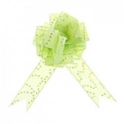 Бант-шар Пайетки зелёный 4см