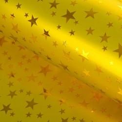 Пленка голографическая Звёзды на золотом 70х100см