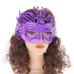 Карнавал маска озорная бабочка свет цвета микс 26*20