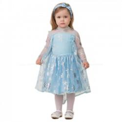 Карнавальный костюм Принцесса Эльза текстиль Батик р28