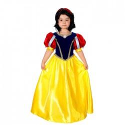 Карнавальный костюм Принцесса Белоснежка текстиль Батик р28