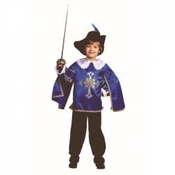 Карнавальный костюм Мушкетер синий Батик р28