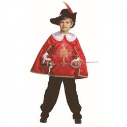 Карнавальный костюм Мушкетер красный Батик р26