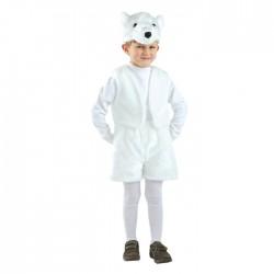 Карнавальный костюм Медведь Белый мех Батик р28