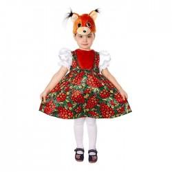 Карнавальный костюм Белка Златка текстиль Батик р26