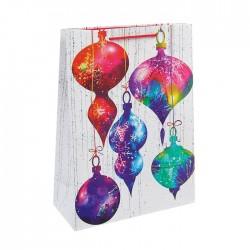 """Пакет подарочный """"Новогодние игрушки"""", 20 х 24 х10,2 см 3822062"""