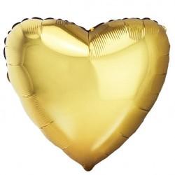 Шар Сердце Античное Золото 48см