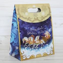 Пакет подарочный Волшебного Нового года 12×16×6см