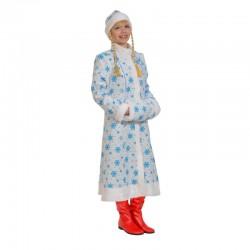 Карнавальный костюм Снегурочка Миди белая р46-48
