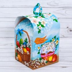 "Коробка складная ""Вкусный Кулич"", 16,5 х 14,5 х 21 см. 2678929"
