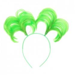 Карнавальный ободок Хвостики зеленый 21×24см