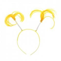Карнавальный ободок Хвостики желтый 21×21см