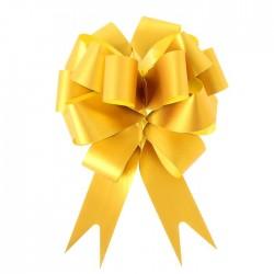 Бант-шар простой золотой 3см