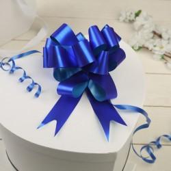 Бант-шар простой синий 12см