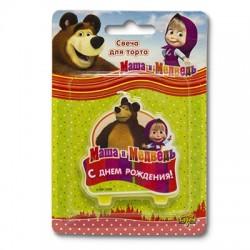 Свеча д/торта с ДР Маша и Медведь (4690390150605)