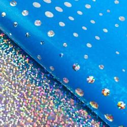 Бумага голографическая голубая 50х70см