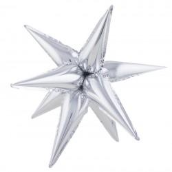 Звезда составная 12 лучиков Серебро 51см