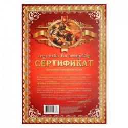 Сертификат на силушку богатырскую А4