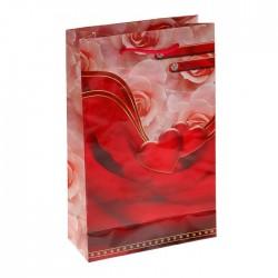 "Пакет подарочный ""Миндальная волна"" 16,5х26,5х7 см 1163783"