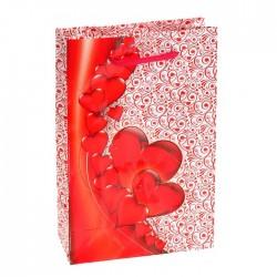 """Пакет подарочный """"Карминовое сердце"""" 11,5х17,5х5 см 1163774"""