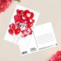 Почтовая карточка I love you 10×15см