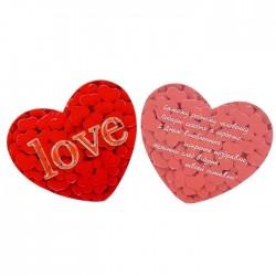 Валентинка Love сердечки 7х6см