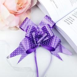 Бант-бабочка фиолетовый горох 44×3см