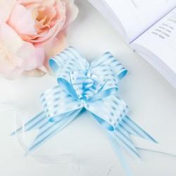 Бант-бабочка голубые полосы 44×3см