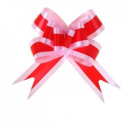 Бант-бабочка красный в розовом 5см
