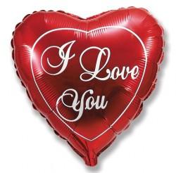 Шар Сердце Любовь красное 48см