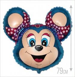 Шар Бабси-мышонок синий 79см