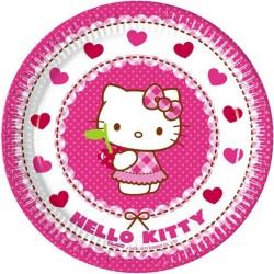 "P Тарелки 20 см ""Хэллоу-Китти"" / Hello Kitty Hearts / набор 8 шт. / (ЕС)"