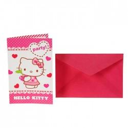 "P Приглашения ""Хэллоу-Китти"" / Hello Kitty Hearts / набор 6 шт. / (Китай)"