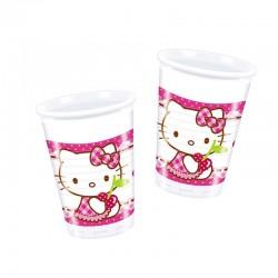"P Стаканы пластиковые 200 мл ""Хэллоу-Китти"" / Hello Kitty Hearts / набор 8 шт. / (ЕС)"