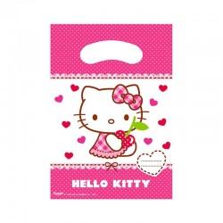 "P Пакеты подарочные ""Хэллоу-Китти"" / Hello Kitty Hearts / 17*23 см / набор 6 шт. / (Китай)"