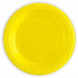 Набор тарелок Делюкс желтые 15см 10шт